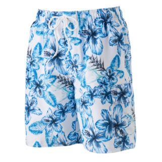 Men's Croft & Barrow® Floral Microfiber Swim Trunks