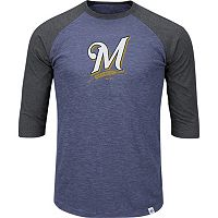 Men's Majestic Milwaukee Brewers Grueling Ordeal Raglan Tee