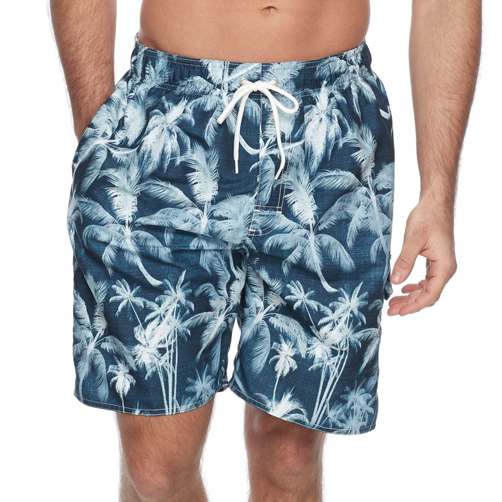 Men's Croft & Barrow® Tropical Microfiber Swim Trunks