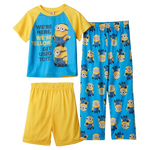 b75e031cc8863 Boys 4-10 Despicable Me Minions 3-Piece Pajama Set