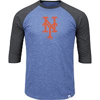 Men's Majestic New York Mets Grueling Ordeal Raglan Tee