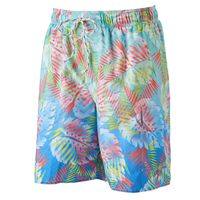 Men's Croft & Barrow® Palm Leaf Microfiber Swim Trunks