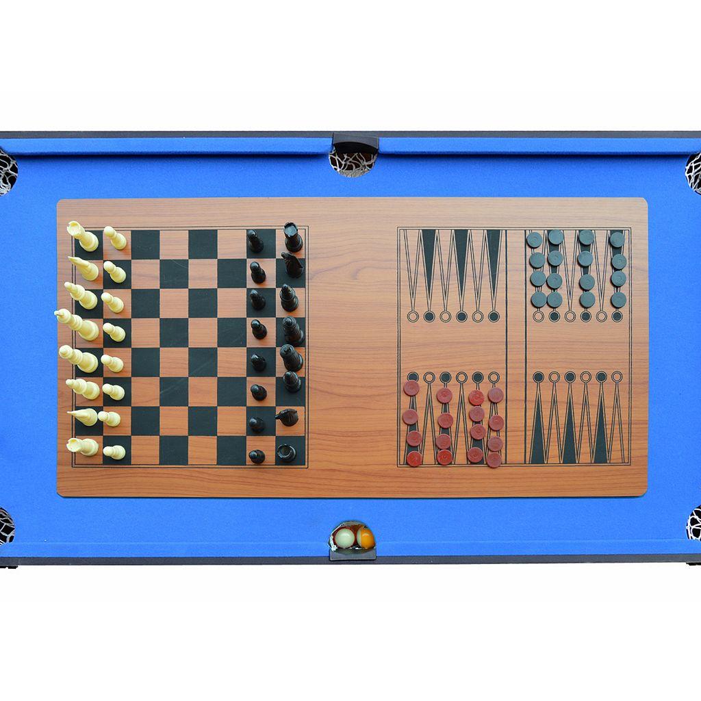 Hathaway Matrix 7-in-1 Multi-Game Billiards, Glide Hockey, Table Tennis, Foosball & Board Game Table