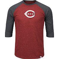 Men's Majestic Cincinnati Reds Grueling Ordeal Raglan Tee