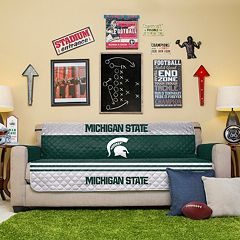 Michigan State Spartans Quilted Sofa Cover