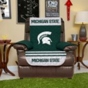 Michigan State Spartans Quilted Recliner Chair Cover