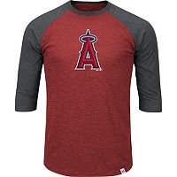 Men's Majestic Los Angeles Angels of Anaheim Grueling Ordeal Raglan Tee
