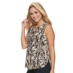 Petite Dana Buchman High-Low Sleeveless Top