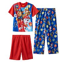Boys 4-8 Paw Patrol Top Pups 3-Piece Pajama Set