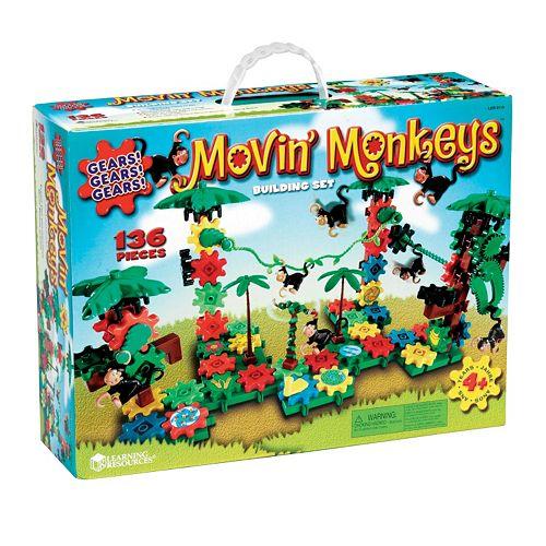 Learning Resources Gears! Gears! Gears! Movin' Monkeys Building Set