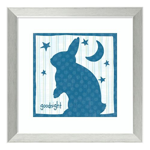 "Le Lapin II ""Goodnight"" Framed Wall Art"