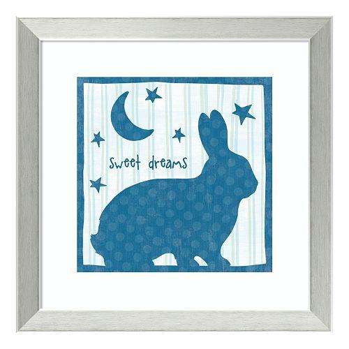"""Le Lapin I """"Sweet Dreams"""" Framed Wall Art"""