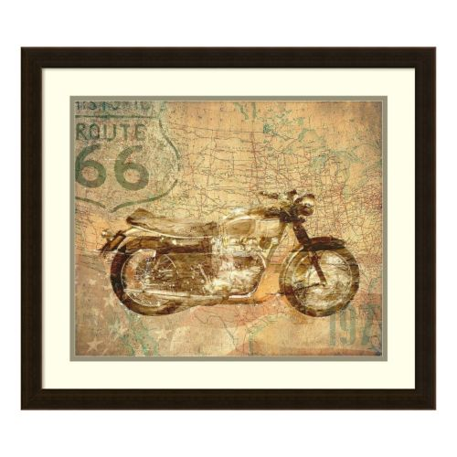 American Rider Motorcycle Framed Wall Art