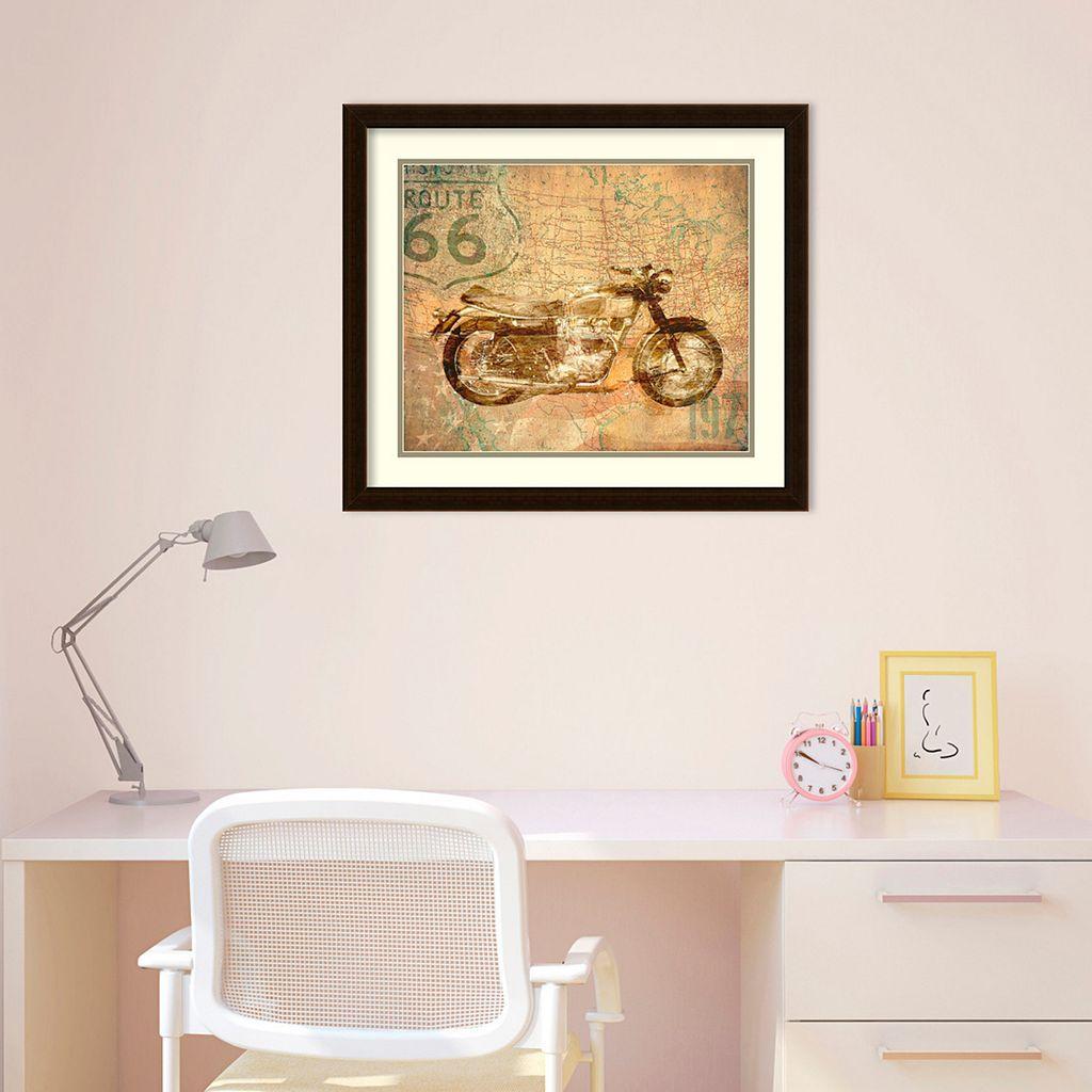 American Rider Motorcycle Framed Wall Art