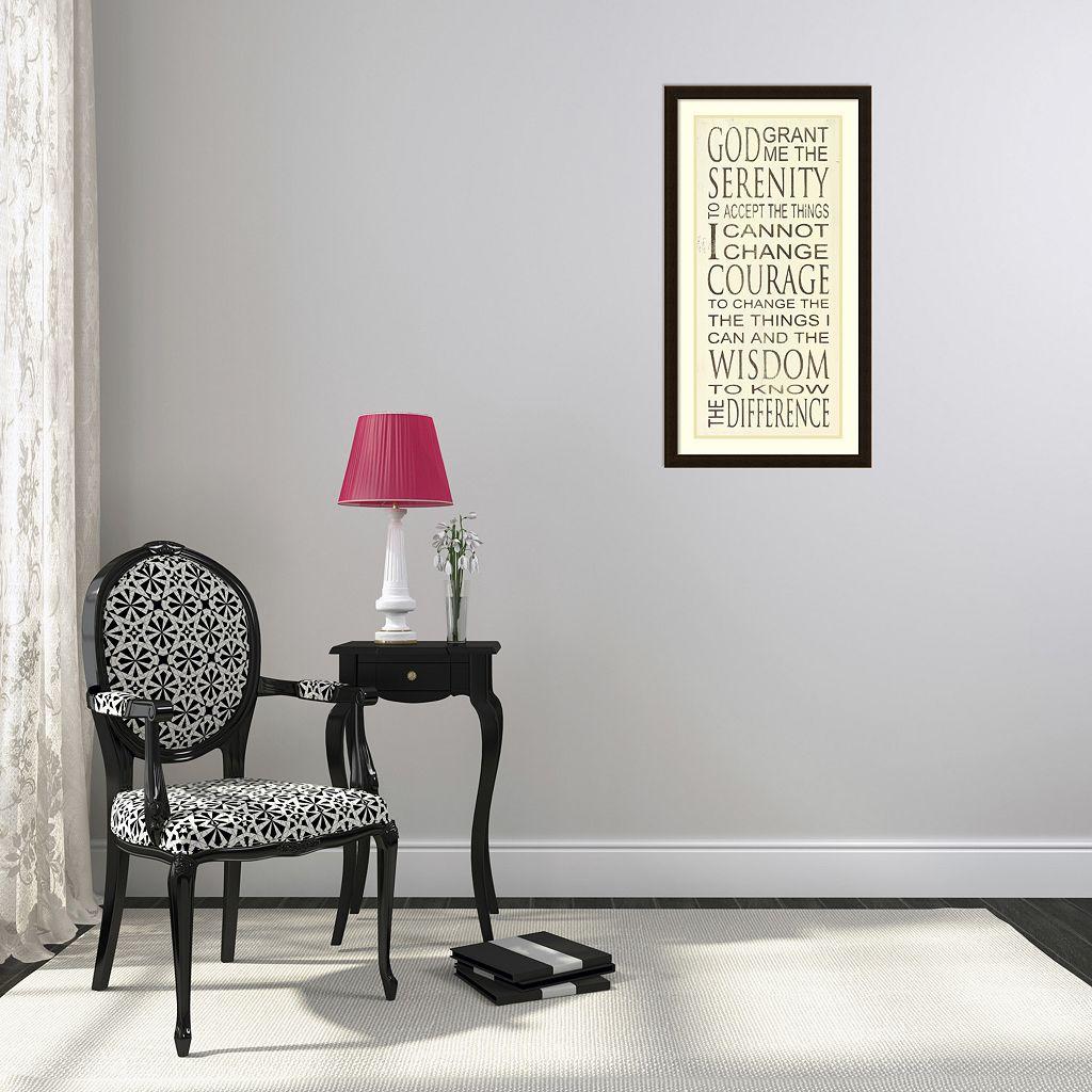 Serenity Prayer Framed Wall Art