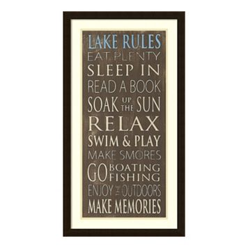 Lake Rules Framed Wall Art