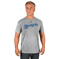 Men's Majestic Milwaukee Brewers Road Wordmark Tee