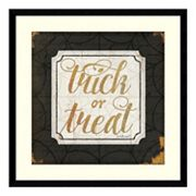 Halloween 'Trick or Treat' Framed Wall Art