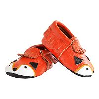 Baby Itzy Ritzy Moc Happens Little Fox Moccasin Crib Shoes