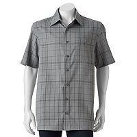 Big & Tall Haggar® Easy-Care Microfiber Button-Down Shirt
