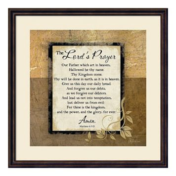 The Lord's Prayer Framed Wall Art