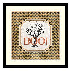 Halloween 'Boo!' Framed Wall Art