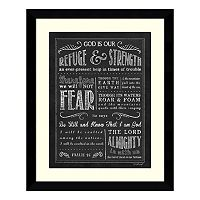 Chalkboard Psalm 46 Framed Wall Art