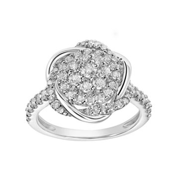 Simply Vera Vera Wang 14k White Gold 1 Carat T.W. Diamond Engagement Ring