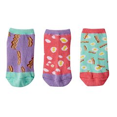 Girls 4-9 Little Miss Matched 3-pk. Scented Liner Socks