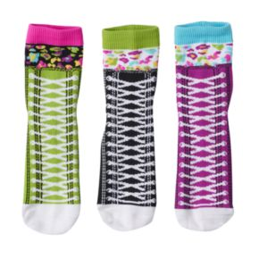 Girls 4-9 Little Miss Matched 3-pk. Sneaker Anklet Socks