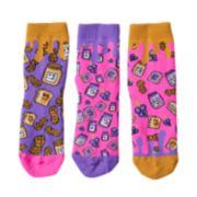 Girls 4-9 Little Miss Matched 3-pk. Scented Anklet Socks