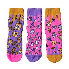 Girls 4-9 Little Miss Matched 3-pk. Scented Anklet Socks