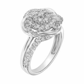 Simply Vera Vera Wang 14k White Gold 1 Carat T.W. Diamond Engagement Ring