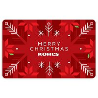Merry Christmas Poinsettia Gift Card