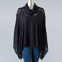 Women's Simply Vera Vera Wang Draped Poncho Sweater