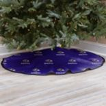 Baltimore Ravens Christmas Tree Skirt
