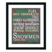 """Winter Fun"" Framed Wall Art"