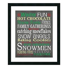 'Winter Fun' Framed Wall Art