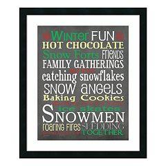 'Winter Fun' Framed Wall Art