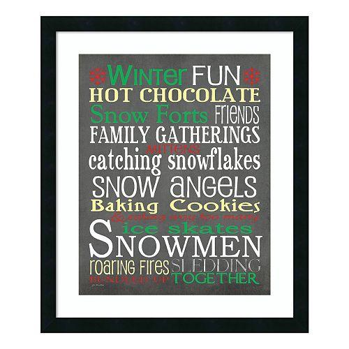 """""""Winter Fun"""" Framed Wall Art"""