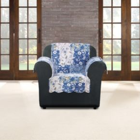 Sure Fit Heirloom Bluebell Floral Chair Slipcover