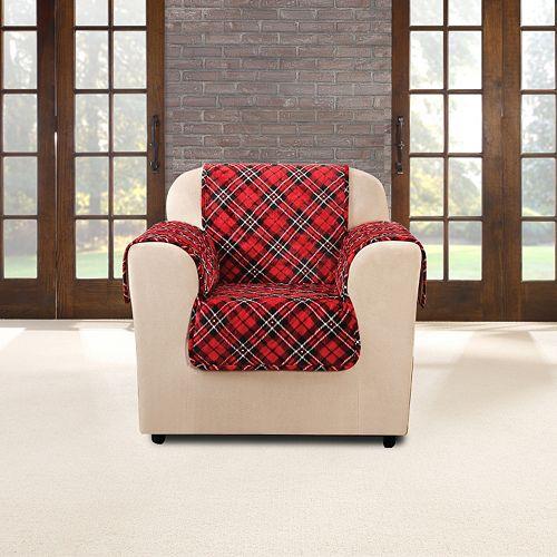 Sure Fit Flair Tartan Plaid Chair Slipcover