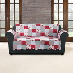 Sure Fit Heirloom Cottage Patchwork Loveseat Slipcover