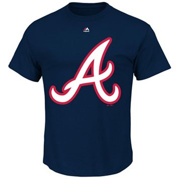 Men's Majestic Atlanta Braves Official Logo Tee