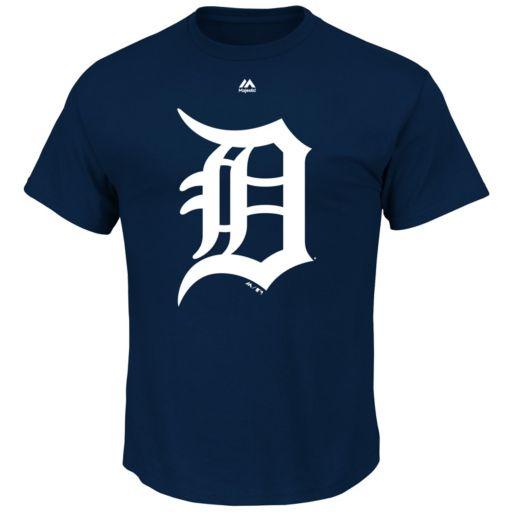 Men's Majestic Detroit Tigers Official Logo Tee