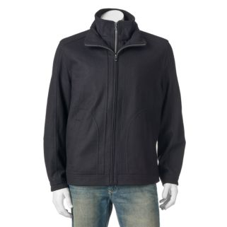 Big & Tall Towne Military Wool-Blend Hipster Jacket