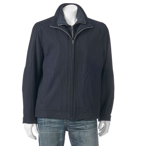 Big & Tall Tower by London Fog Military Wool-Blend Hipster Jacket