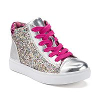 SO® Girls' Glittery High-Top Sneakers