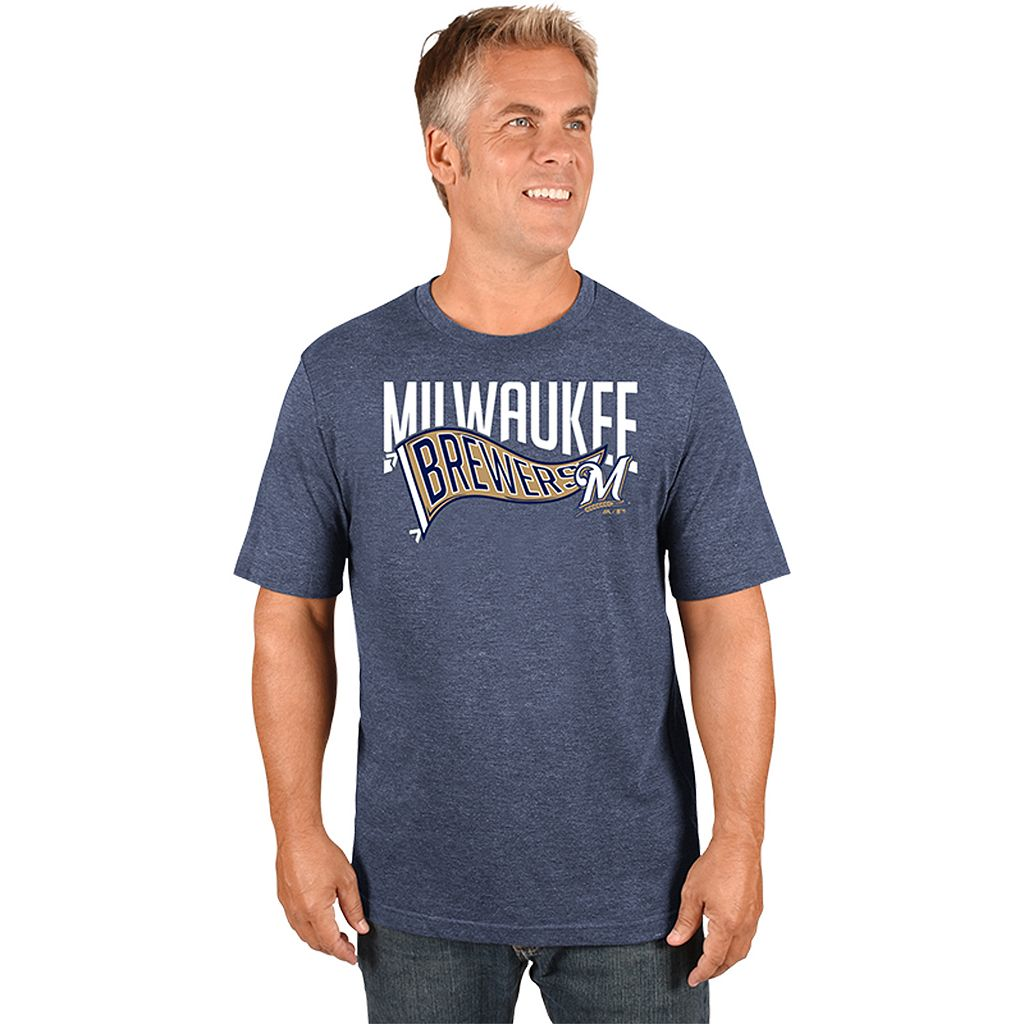 Men's Majestic Milwaukee Brewers Roll with the Punches Tee