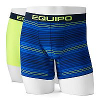 Men's equipo 2-pack Solid & Striped Microfiber Boxer Briefs